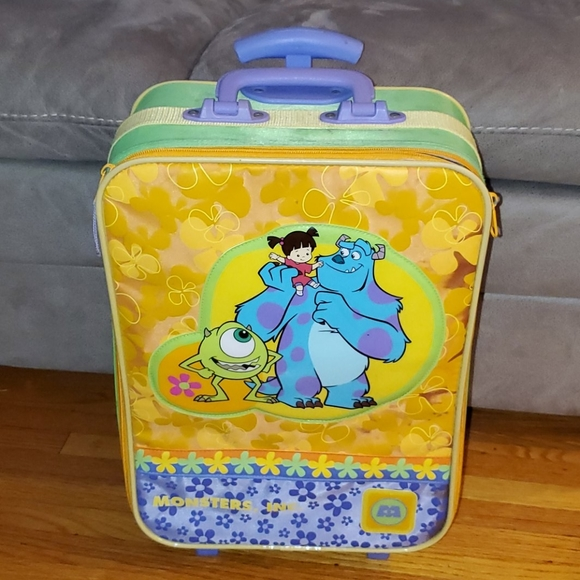 Monsters Inc. Kids rolling luggage